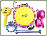 子供おもちゃシリーズ 【 五感を刺激 】 知育玩具 ( 太鼓 マラカス 手持ち太鼓 ガラガラ ) お得な4点セット