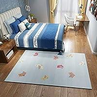 虹保育園敷物素敵な漫画子供プレイカーペットパターン鳥子供玩具敷物赤ちゃんクロールマット寝室用リビングルーム リビングルームYZJL (Color : Q16, Size : 5'3''X7'7''(160X230cm))