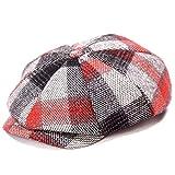 [Eternal Leaf] キャスケット ハンチング 帽子 ブロック チェック つば付き ベレー 帽 メンズ レディース FT24102