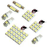 【断トツ189発!!】 BR系 レガシィアウトバック(レガシー) LED ルームランプ 8点セット [H21.5~H26.10] スバル 基板タイプ 圧倒的な発光数 3chip SMD LED 仕様 室内灯 カー用品 HJO