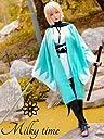milky time ウィッグ付き★ 沖田総司 Fate/Grand Order 桜セイバー 風 コスプレ 衣装 羽織セット (M)