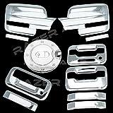 09–14フォードf150トリプルクロムメッキミラーカバー( Does Not Fit On Towingミラー、2ドアハンドルカバーwithキーパッドand without Passenger鍵穴、テールゲートハンドル、ガスドアカバー