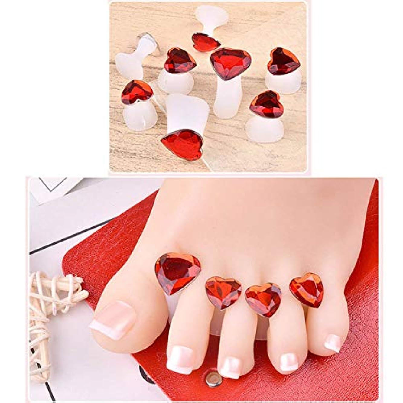 求人準備したショッキングWadachikis Plaiseworthy 8 pcs新しい真珠のダイヤモンドつま先シリコンセパレータ花ペディキュアツール水滴(None H08)