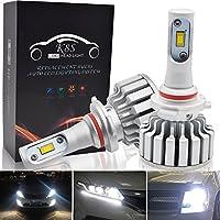 9005 LED 車用 ヘッドライト 電球 キット - Safego 車検対応 HB3 50W 5000ルーメン 高輝度 LED チップ搭載 LEDバルブ 変換 キット 12v 置き換 車 ハロゲン ライト HID 電球 K8S-9005