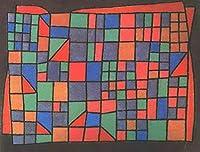 ¥5K-200k 手書き-キャンバスの油絵 - 美術大学の先生直筆 - 12 名画 - Glass Facade Paul Klee 抽象画 - 絵画 洋画 手描複製画 -06