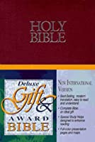 Holy Bible, New International Version: Deluxe Gift and Award, Leather-Look, Burgandy