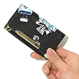 ブラックB/コスメ F (ディーループ)D-LOOP プリント キーホルダー 4連 カラビナ付き キーケース レディース PUレザー 鍵入れ 10代 20代 30代 40代 121757-010-043 (¥ 2,000)