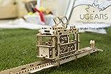 路面電車モデル 自分で組み立てて、ゴム動力で動く3Dパズル Ugears インテリアにも最適 日本正規販売