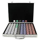 商標ポーカー100011.5-gram dice-stripedチップのアルミケース