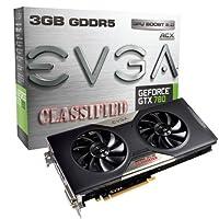 EVGA GeForce GTX 780Classified w / EVGA ACXクーラー3GB gddr5384-bit、デュアルリンクDVI - I / DVI - D HDMI DP SLI Readyグラフィックスカード03g-p4–3788-kr
