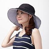 りぼんde調節UVカットつば広帽子1007619