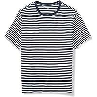 Amazon Essentials Men's Big & Tall Short-Sleeve Stripe Crew T-Shirt fit by DXL