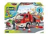 ドイツレベル 1/20 ジュニアキットシリーズ 消防車 w/フィギュア 色分け済みプラモデル 00819