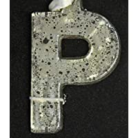 CC Christmas Decor 31319853 4 in. Antique-Style Speckled Glass Monogram Letter P Christmas Ornament