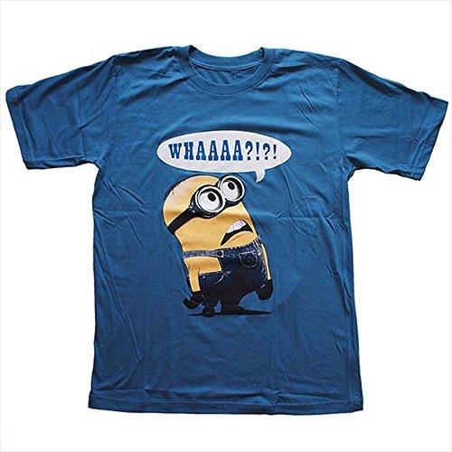 【並行輸入品】Minion/ミニオン 怪盗グルー プリントTシャツ ムービーTシャツ アニメキャラTシャツ ネイビー Sサイズ Mサイズ Lサイズ 男女兼用 ~Lサイズは短めワンピースとしても人気~