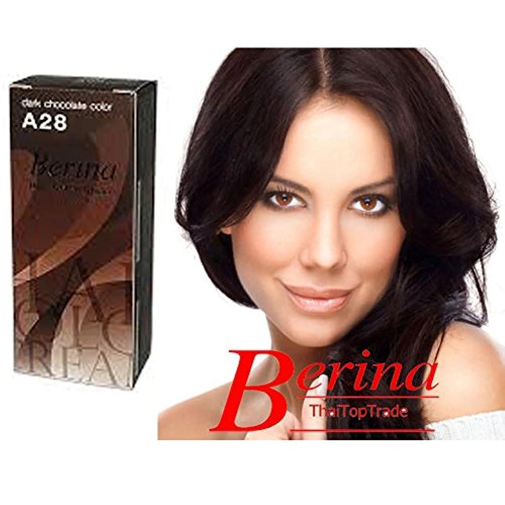 リハーサル新着宿Berina Permanent Hair Dyeカラークリーム# a28ダークチョコレートカラータイ製by sellgreat1449。