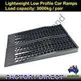 3000kg Load Low Profile Car Ramps Pair 7cm Rise Car Lift Antiskid Service Ramp