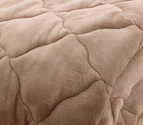 敷きパッド プレミアムマイクロファイバー 洗える 静電気防止 とろける肌触り シングル モカベージュ mofua fondan フォンダン