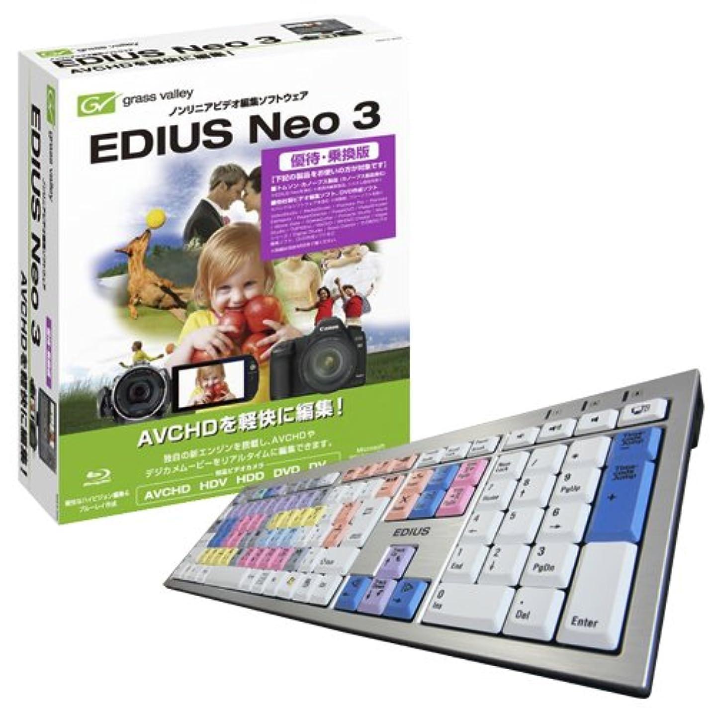 おいしい入射ライオンEDIUS Neo 3優待版+EDIUSキーボード for Logic
