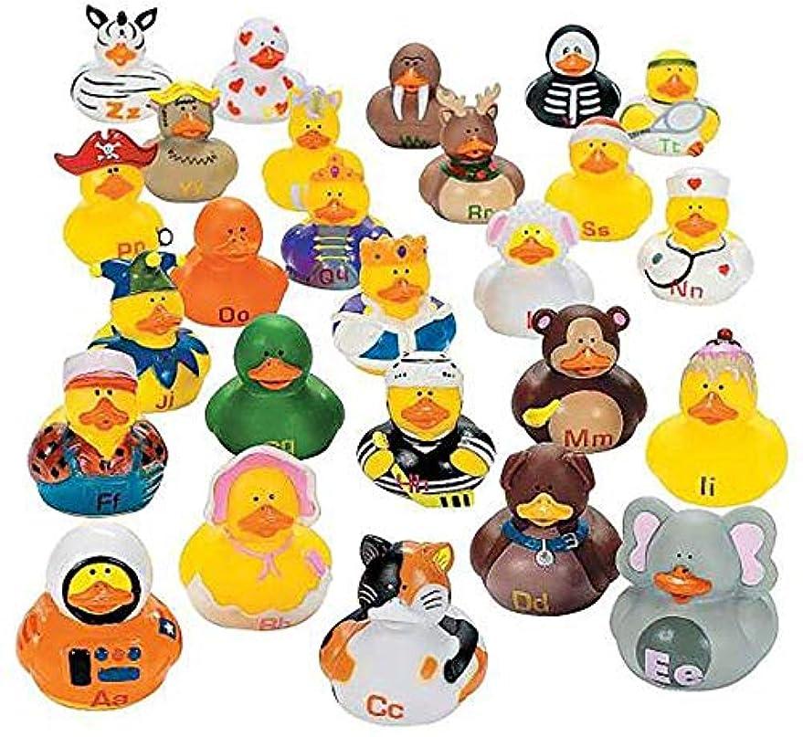 ヒステリックねじれカカドゥKicko Alphabet Rubber Duck Toys - 26 Pieces Assorted Duckies for Kids Party Favors, on Birthdays, Baby Showers, All Time Favorite Bath Companion for Summer Beach and Pool Activity [並行輸入品]