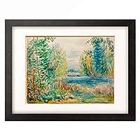 ピエール=オーギュスト・ルノワール Pierre-Auguste Renoir 「River Landscape」 額装アート作品