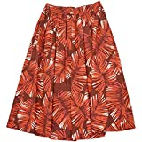 [ANTONELLI【アントネッリ】]リーフプリントスカート VALENCIA A9884 165B 525 コットン レッド
