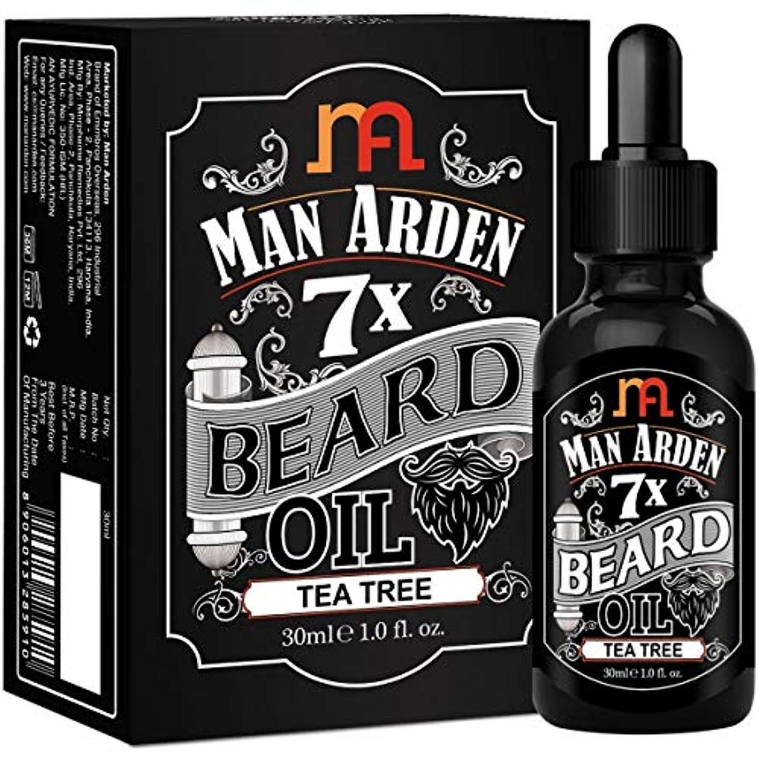 分散パーツもろいMan Arden 7X Beard Oil 30ml (Tea Tree) - 7 Premium Oils Blend For Beard Growth & Nourishment