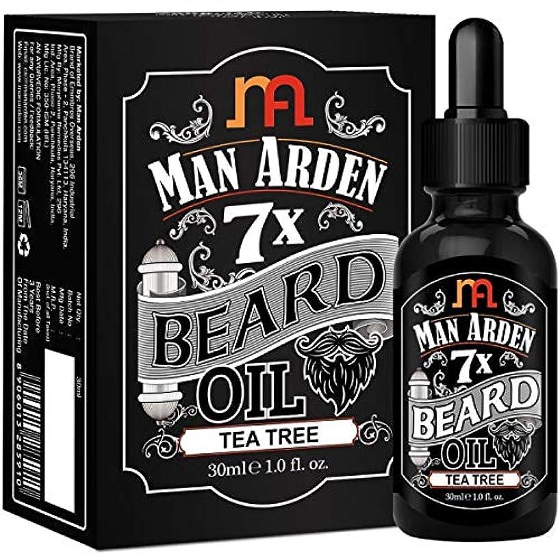 生き返らせる乱気流Man Arden 7X Beard Oil 30ml (Tea Tree) - 7 Premium Oils Blend For Beard Growth & Nourishment