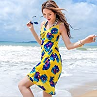 (Yellow) - Bhbuy Chiffon Beach Swimwear Shawl Sarong Wrap Dress Bikini Cover Up Scarf (Yellow)