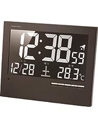 ADESSO(アデッソ) 掛け時計 電波時計 温度 日付表示 置き掛け兼用 ブラック AK-62