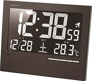 アデッソ 壁掛け時計 デジタル 電波時計 置き掛け兼用 ブラック AK-62