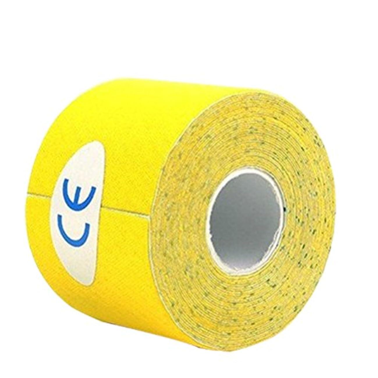 バルコニー足ガイドROSENICE キネシオロジーテープセットセラピースポーツフィジオセラピー500x2.5cm(イエロー)