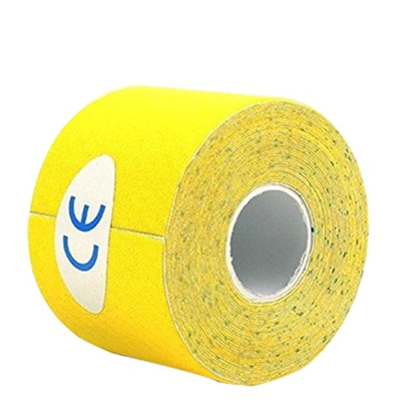 寝てるアクセスできないナイロンROSENICE キネシオロジーテープセットセラピースポーツフィジオセラピー500x2.5cm(イエロー)