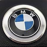 BMW i8 ルック アルミ ステアリング センターリング ドレスアップカバー (シルバー)