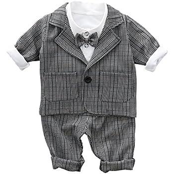 7704a8bed81f2 Cloudkids ベビー キッズ フォーマル スーツ 長袖 シャツ ジャケット ズボン 3点セット 子供服 赤ちゃん 男の子