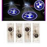 Ltsplay 4個セット LEDドアウェルカムライト カーテシランプ レーザーロゴライト LEDロゴ投影 3 5 7 X3 シリーズ車用カーテシ 純正交換タイプ For BMW E90 F20 F32 F10