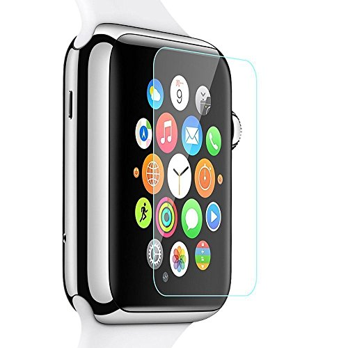 RoiCiel Apple Watch 42mm液晶保護強化ガラスフィルム アップルウォッチ 硬度9H 超薄0.15mm 2.5D ラウンドエッジ加工 (Apple Watch42mm)