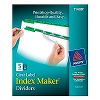 Index Maker Divider w/Color Tabs, Green 5-Tab, Letter, 5 Sets/Pack (並行輸入品)