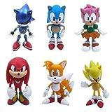 Sonic the Hedgehog子供用おもちゃ6アクションフィギュアセットギフト人形おもちゃクリスマスゲーム