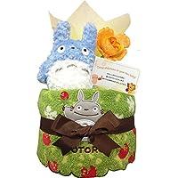 出産祝いにとなりのトトロのおむつケーキ 男の子 女の子/赤ちゃん/内祝い/誕生日プレゼント/ギフトセット/ダイパーケーキ (パンパースS12 (出産祝い用に))