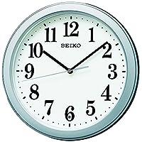 セイコー クロック 掛け時計 電波 アナログ コンパクトサイズ 銀色 メタリック KX379S SEIKO