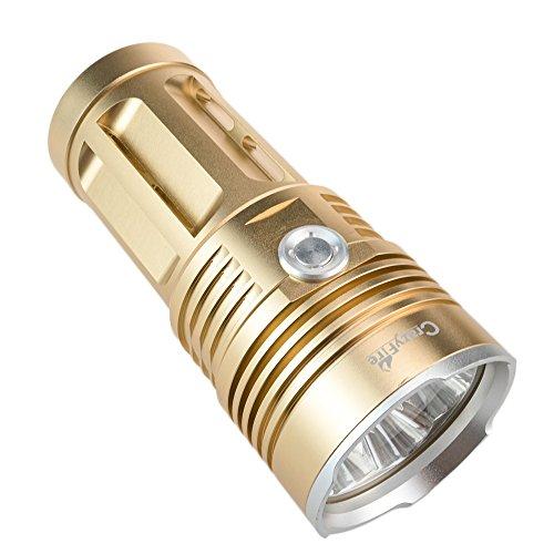 [해외]CrazyFire 손전등 고휘도 xml-t6 7 등 4000LM 강력한 led 조명 18650 건전지 4 개 포함/CrazyFire flashlight high brightness xml - t 6 7 lights 4000 LM powerful led light with 4 18650 batteries