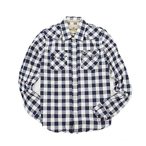 (ホリスター)Hollister Co. 長袖シャツ C/ネイビー Lサイズ メンズ 並行輸入品