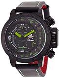 [エンジェルクローバー]Angel Clover 腕時計 Roenコラボ ブラック文字盤 ステンレス(BKPVD)ケース カーフ革ベルト デイト 10気圧防水 TC48ROG メンズ