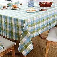 長方形のテーブルクロス、キッチンのコーヒーテーブルレストランの装飾に適した小さなチェック柄コットンリネンアンチスカーディングアンチシワ (色 : D, サイズ さいず : 53.1''*78.7'')