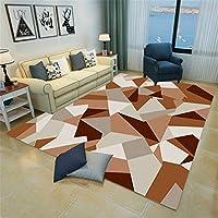 ラグ グラデーション カーテン 水色 160x240cm ラグ 現代のシンプルさ 長方形 単純正Nordic 3D幾何学模様スクエアマットリビングルームオフィスベッドルームフルカーペット 150 ラグ