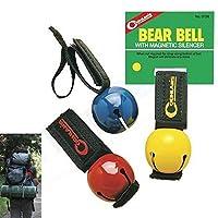 4PC Coghlans Bear Bell磁気Silencerハイキング安全サバイバル攻撃犬ベル