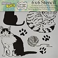 Crafters Workshop Kitties Crafter's Workshop Template, 6 by 6 by CRAFTERS WORKSHOP