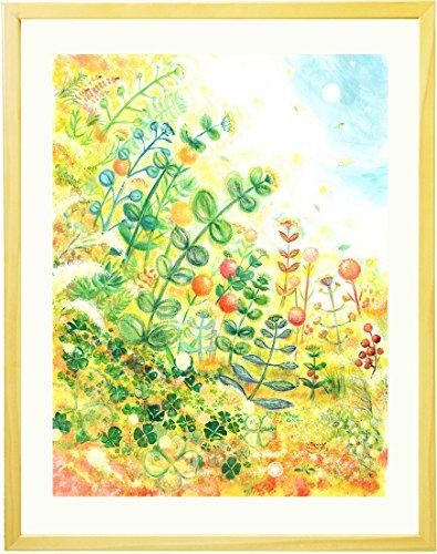 絵画 インテリア 絵「grow」 額入りM(395×305mm) 玄関 風水 絵 壁掛け おしゃれ 壁飾り リビング アートポスター 北欧 ...