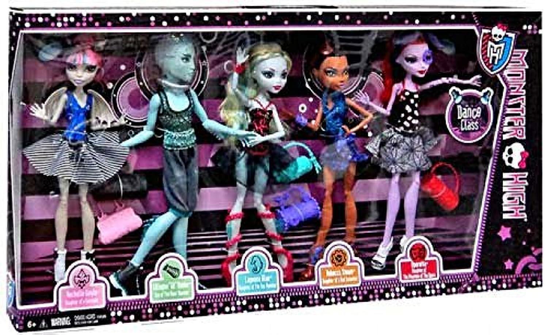 Monster High Dance Class 5 Pack - Rochelle Goyle, Gil Webber, Robecca Steam, Lagoona Blue and Operetta - Exclusiv 2013 -